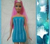 Одежда для кукол - Платье Бирюза