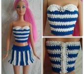 Одежда для кукол - Костюм морячки