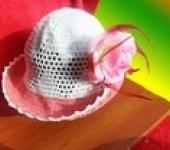 Головные уборы - Шляпа вязаная ,летняя.
