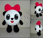 Вязаные куклы - малышарик Панди