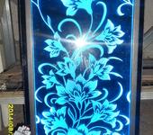 Светильники, люстры - пескоструйное гравирование-цветы