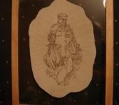 Оригинальные подарки - Портрет, пирография по коже