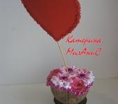 """Оригинальные подарки - Композиция """"Цветочное сердце"""""""