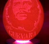 """Светильники, люстры - Ночник.""""CHE GUEVARA"""" Резьба Страусиное яйцо ."""