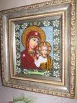 Вышитые картины - икона Казанская Божья мать