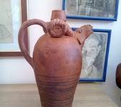 Декоративная посуда - Бутыль для вина с головой барана