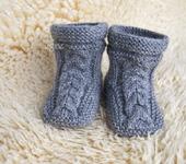 Для новорожденных - Пинетки-сапожки
