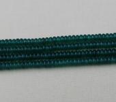 Фурнитура для бижутерии - Агат зеленый (рондель)  120шт