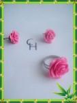 Комплекты украшений - Розовый сад