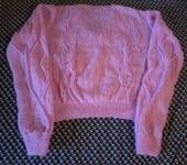"""Кофты и свитера - Ажурный пуловер """"Розовые тюльпаны"""""""
