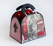 """Оригинальные подарки - Сумочка - шкатулка """"Лондон"""""""