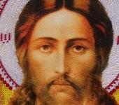 Вышитые картины - Икона Спас Нерукотворный вышита Чешским Бисером.