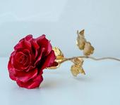 Оригинальные подарки - Кованая красная роза