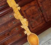 Элементы интерьера - Деревянная ложка ручной работы рекламная.