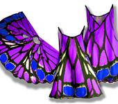 Одежда для девочек - Сарафан, имитирующий крылья экзотической бабочки, фотопринт