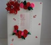 Открытки - Открытка с цветами ручной работы
