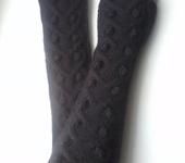 Варежки, митенки, перчатки - Митенки длинные черные М26