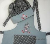 Одежда для девочек - Фартук детский с вышивкой Мышка