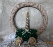 Элементы интерьера - Рождественский венок со свечкой