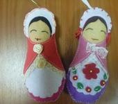 Матрешки - Флисовые куколки Маша и Даша