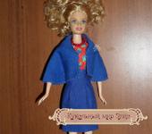 Одежда для кукол - Кукольная одежда 1/6 - костюм сине-красный: платье и жакет