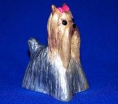 Зверята - Йоркширский терьер Стефани. Керамический колокольчик.