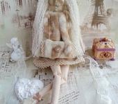 Куклы Тильды - Тильда Зимний Ангел на коньках, фигуристка