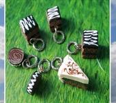 Бусины - Подвески - сладкая миниатюра пирожное