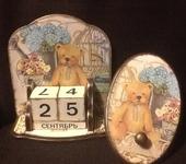 "Календари - набор : вечный календарь и вешалка "" Мишка """