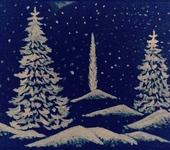 Рисунки и иллюстрации - Роспись на окна и витрины к Новому году