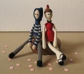 Вязаные куклы - Сладкая парочка.