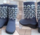 Обувь ручной работы - Полусапожки вязаные