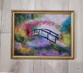 Живопись - Картина из шерсти  Мостик Моне