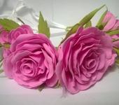 Украшения для волос - Венок из роз,выполненных из фоамирана
