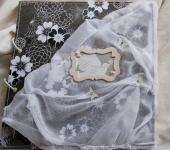 """Свадебные аксессуары - Книга пожеланий """"Черное и белое"""""""