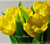 Цветы - тюльпаны из полимерной глины