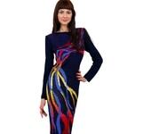 Платья - Вязаное платье ручной работы