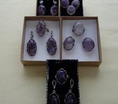 Серьги - Гарнитуры (серьги, кольца) из натуральных камней
