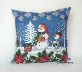 Подушки, одеяла, покрывала - Подушка Снеговики