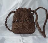 Сумки, рюкзаки - Плетеная женская сумка на длинном ремешке