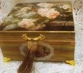 Декупаж - Розы в корзине.