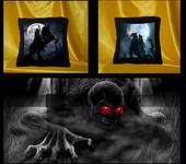 Подушки, одеяла, покрывала - Декоративная подушка Темный всадник1