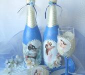 """Свадебные аксессуары - """"Royal wedding"""" свадебные бутылки и фужеры"""