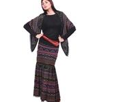 Костюмы - Вязаная юбка и косынка