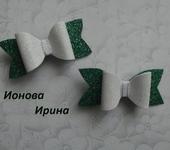 Украшения для волос - Бантики из глиттерного фоамирана