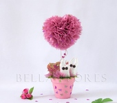 Оригинальные подарки - Топиарий Розовые очки