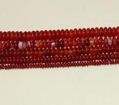 Фурнитура для бижутерии - Агат красный (рондель)   150шт