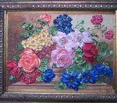 """Вышитые картины - Картина """"Цветочный вальс"""""""