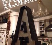Элементы интерьера - Буквы и символы с лампочками и без...