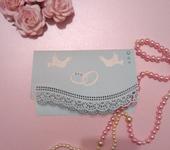 Свадебные открытки - пргилашения голуби любви